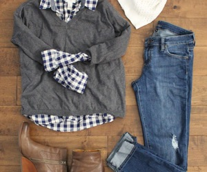 boots, casual, and shirts image