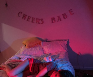 bedroom, pink, and cheers image