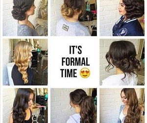 blond hair, brown hair, and formal image