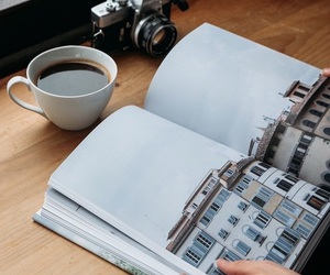 books, coffee, and drink image