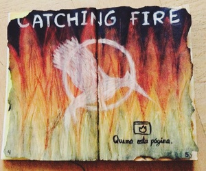 journal and catching fire image