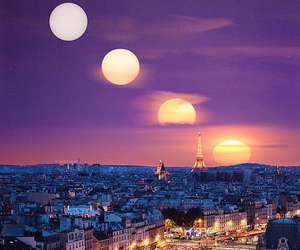 moon, paris, and parís image