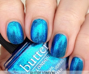 blue, butter london, and polish image