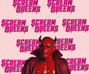 wallpaper, scream queens, and red devil image
