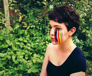 make-up and rainbow image