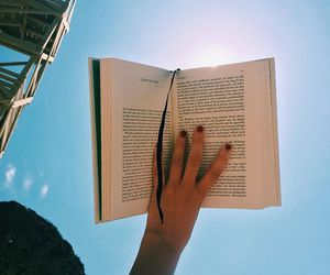 book, photography, and sky image