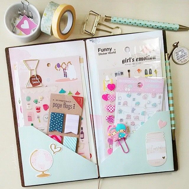 kawaii, sticky notes, and planner image