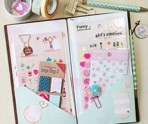 kawaii, planner, and sticky notes image