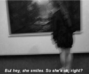 quote, sad, and smile image