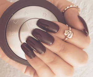 nails, rings, and brown image
