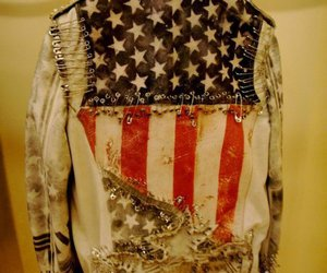jacket, usa, and black and white image