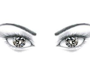 diamond, eyes, and diamond eyes image