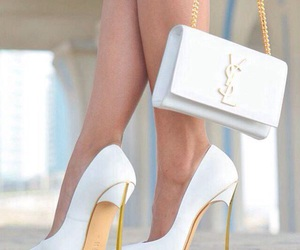 white, shoes, and YSL image