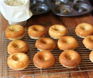 cooking, donuts, and doughnuts image