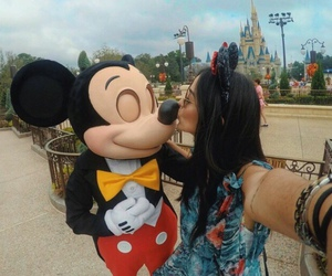 disney, mickey, and girl image