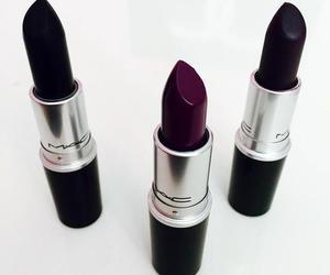 lipstick, mac, and black image