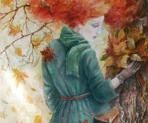 autumn, red hair, and woman image