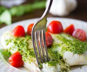 fish, food, and tomato image