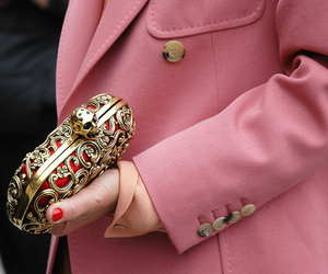fashion, pink, and clutch image