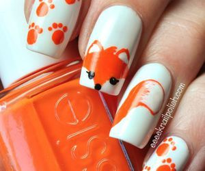 nails, fox, and orange image