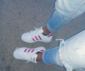 adidas, jeans, and sneakers image