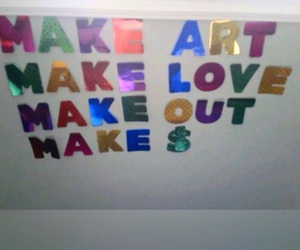 art, make out, and money image