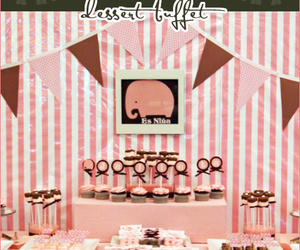 elephant, party, and pink image