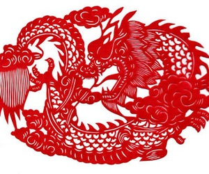china, dragon, and cute image