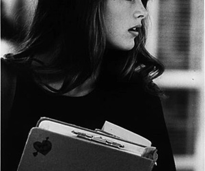 brooke shields, hair, and black and white image