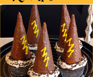 cupcake, party, and wizard image