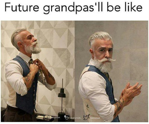 grandpa, funny, and future image