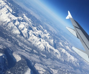airplane, mountain, and beautiful image
