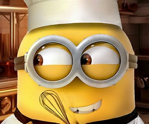 minions, chef, and banana image