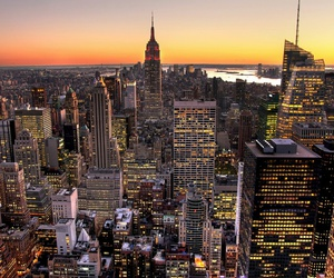 new, York, and sunset image
