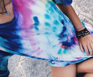 color, tie dye, and colors image