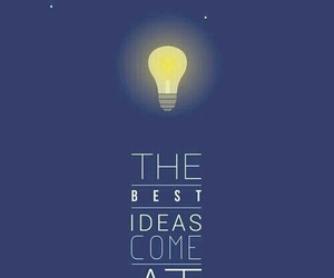 ideas, quote, and night image