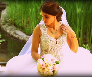 bride, white, and juwelry image