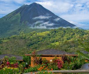 costa rica, nayara hotel, and arenal volcano image