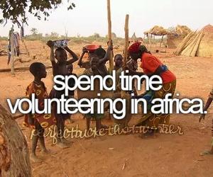 africa, before i die, and volunteer image