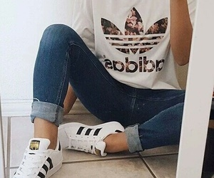 <3, adidas, and clothes image