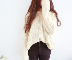 fashion, sweater, and hair image