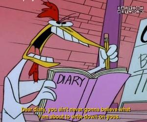 cartoon, diary, and funny image