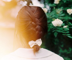 bow, flowers, and summer image