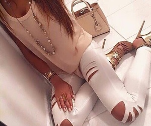 fashion, necklase, and outfit image