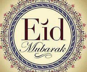 eid, muslim, and eid mubarak image