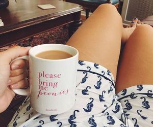 coffee, cup, and girly image