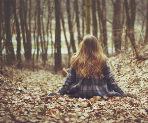 forest, girl, and autumn image