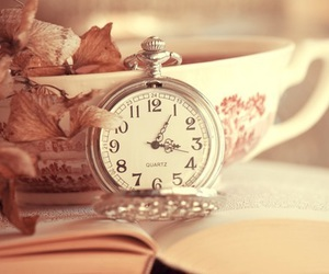 clock, book, and vintage image