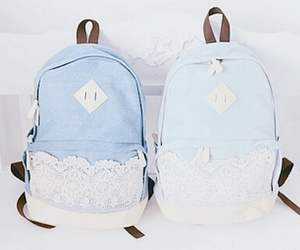 backpack, bag, and blue image