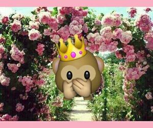 apina and emoji flowers image